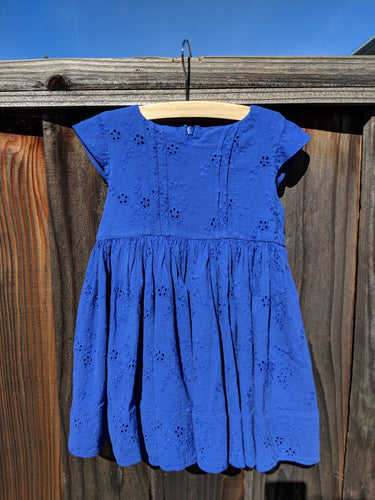 Morley Dress - Delft Blue