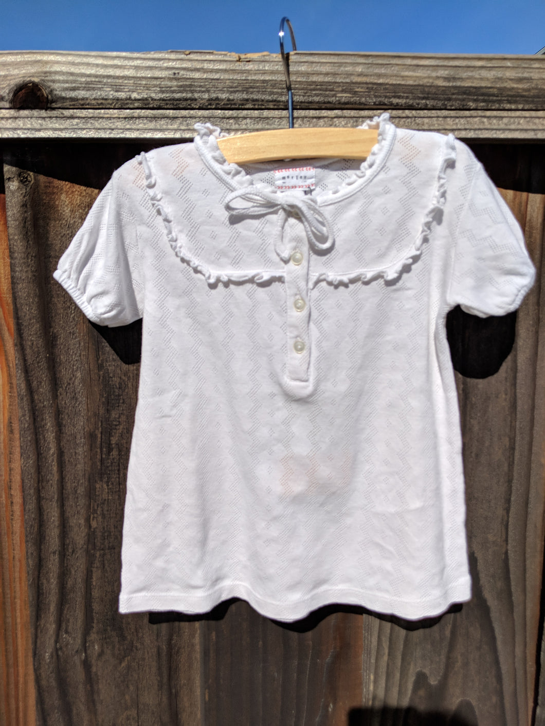 Morley Pointelle Top - White
