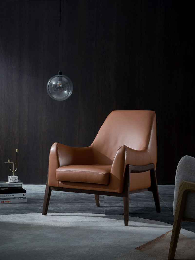 Mindfulness Lounge Chair - Leather