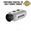 PORTABLE DIGITAL 7X GOLF SCOPE RANGE FINDER DISTANCE 1000M WITH PADDED CASE