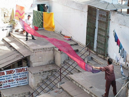 How to dry a sari