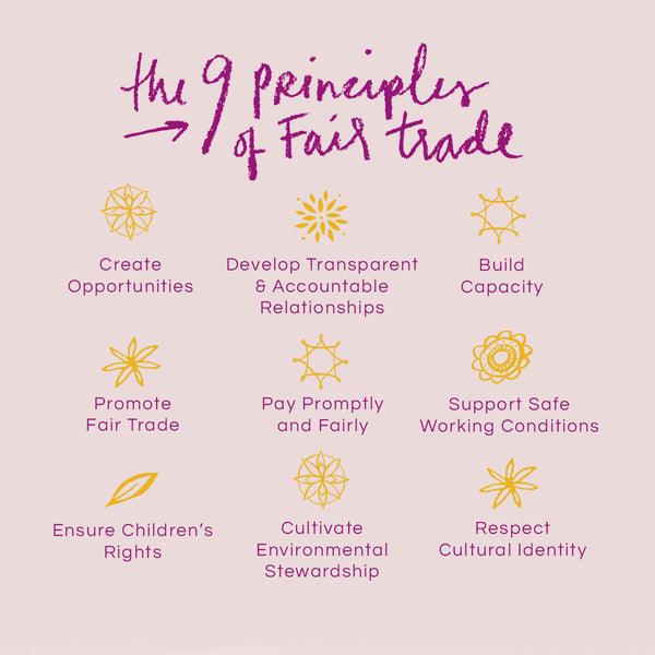 The nine fair trade principles of the Fair Trade Federation