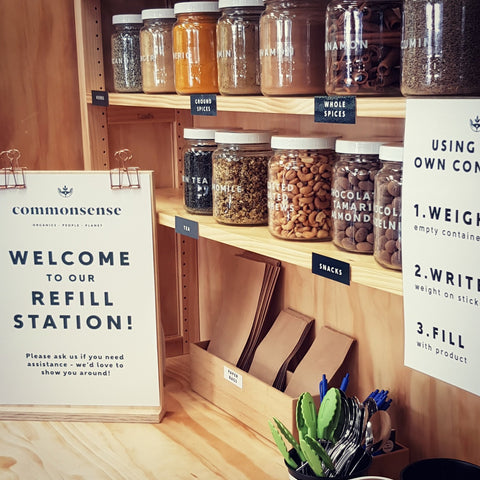 Organic food store Commonsense in Fair Trade Town Wellington, New Zealand