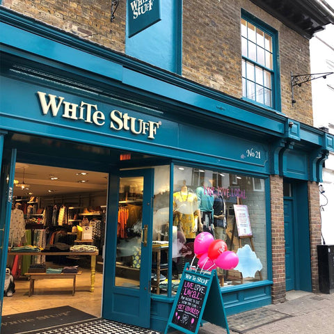 White Stuff is an ethical fashion store in Fair Trade Town London, England