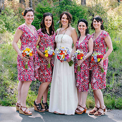 fair trade bridesmaid dresses by Mata Traders