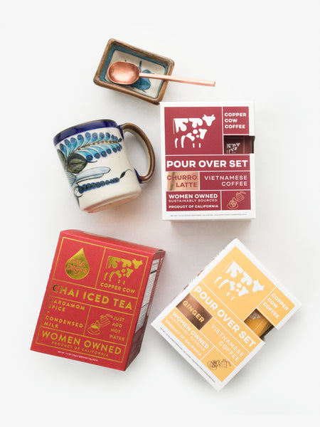 galentine's day gift - copper cow coffee and tea