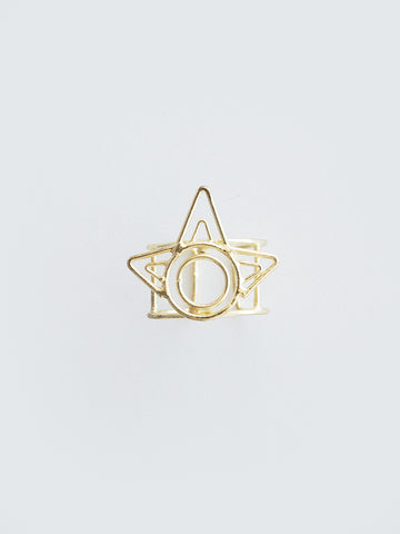 deco beam ring gold