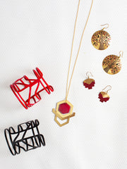 Mod Gem Necklace Red