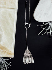 Ibiza Tassel Necklace Silver
