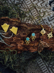 North Star Earrings Gold