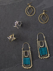 Samira Earrings Teal