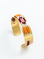 Beaded Daydreams Cuff Gold
