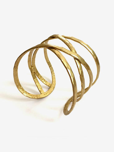 Criss-Cross Cuff Gold