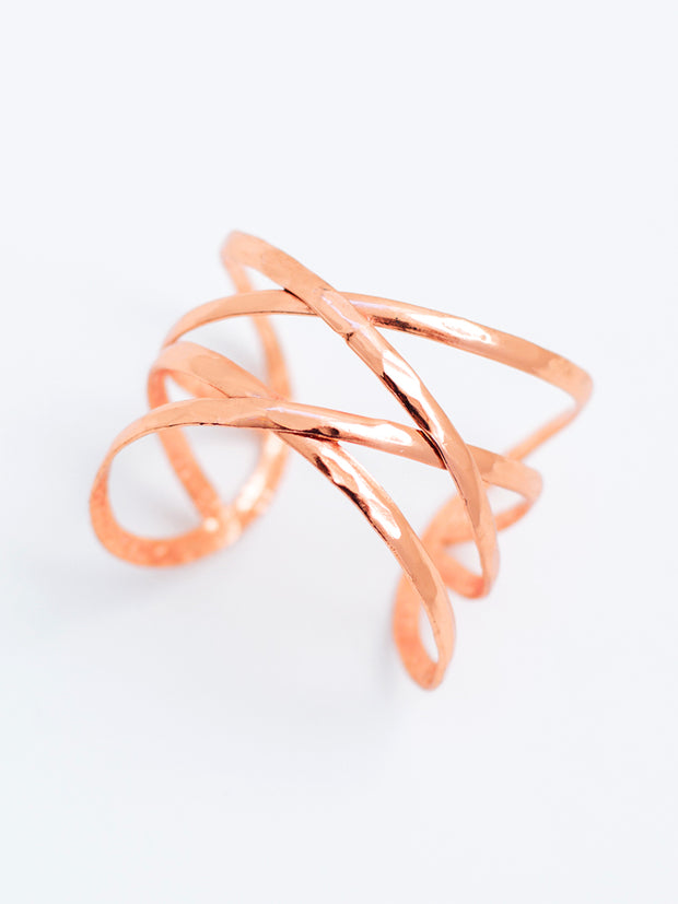 Criss-Cross Cuff Copper