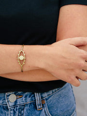 Eye to Eye Bangle Gold