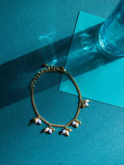 Gracie Beaded Bracelet Gold