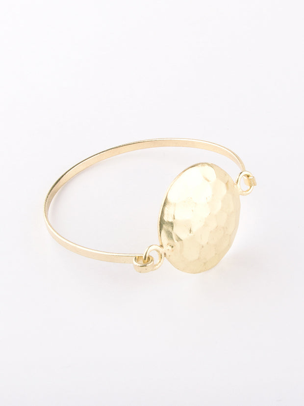 Hammered Disc Bracelet Gold