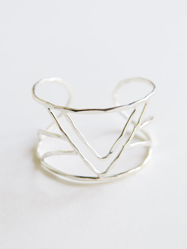 Peaks And Valleys Cuff Silver