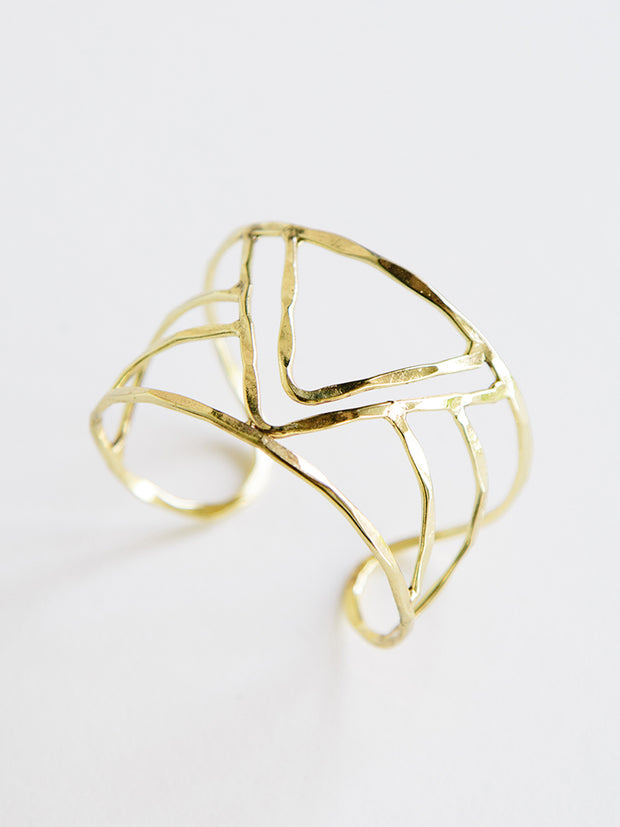 Peaks And Valleys Cuff Gold