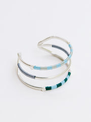 Threaded Trio Cuff Blue