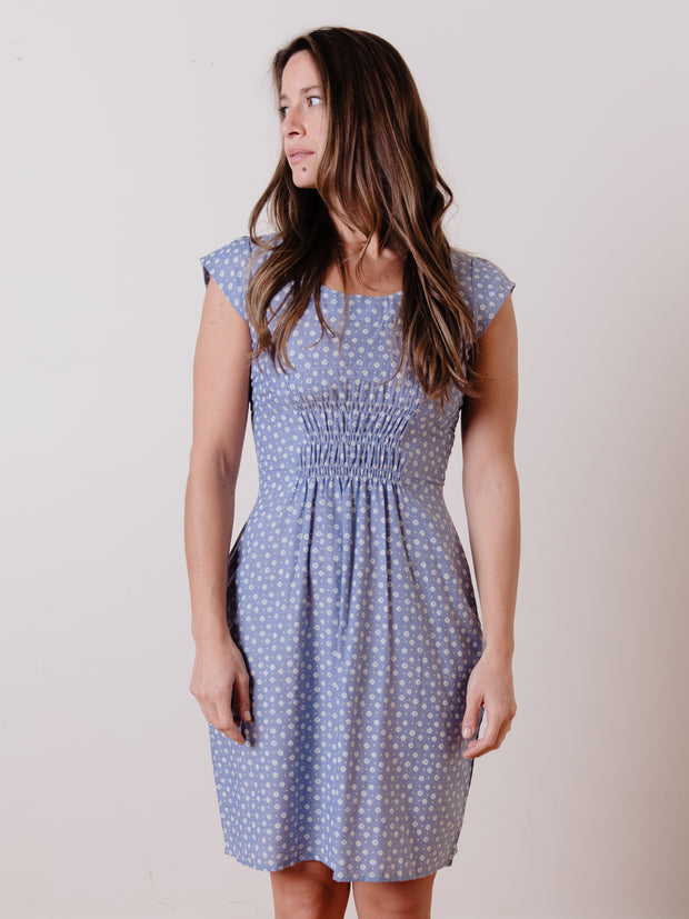 Artsy Traveler Dress Chambray