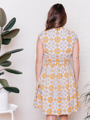 Chilmark Dress Yellow Tile