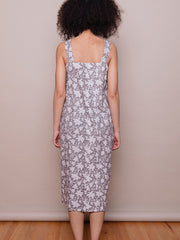 Della Dress Grey Floral