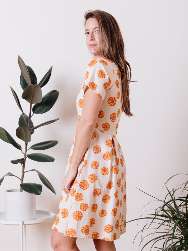 Destine Dress Marigold White