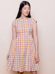 Devonshire Dress Blush Plaid