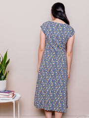 Elise Sheath Dress Blue Spots