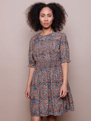 Henrietta Smocked Dress Blue