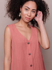 Jacklyn Shift Dress Rose Linen