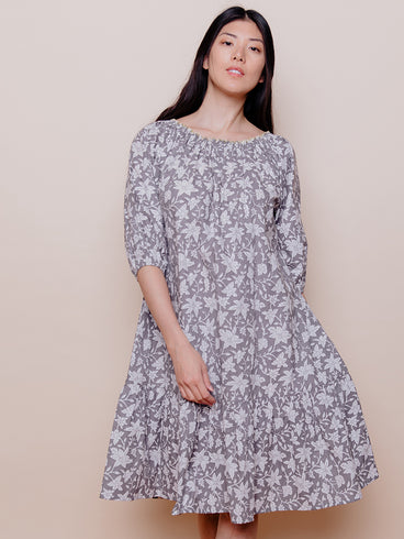 Marnie Dress Grey Floral