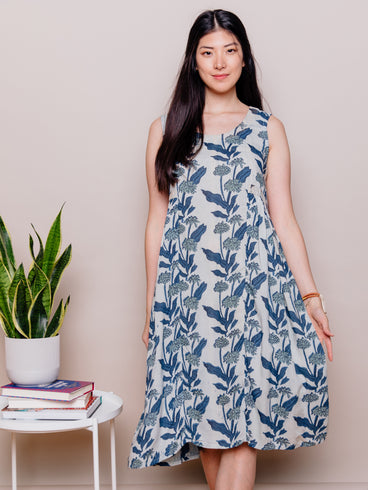 Melody Midi Dress Blue Floral