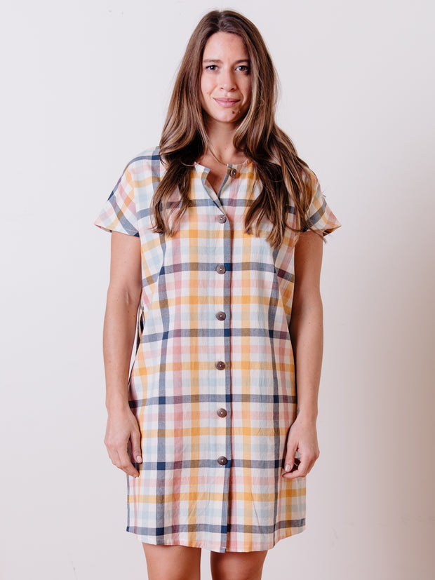Renee Dress Multi Gingham