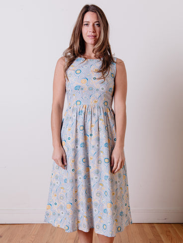 Sydney Midi Dress Blue Suzani