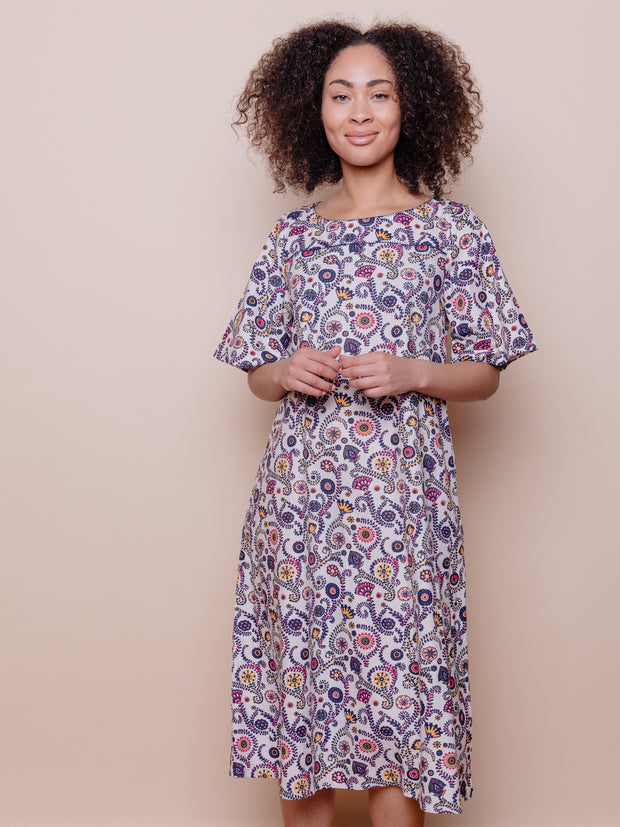 Twyla Dress Fuchsia Suzani