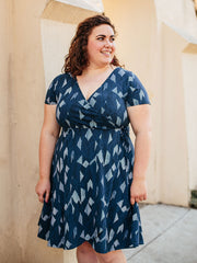 Ainslie Wrap Plus Size Dress Twilight