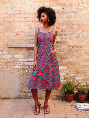 Aloha Midi Dress Red Poppies