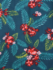 Aloha Midi Dress Teal