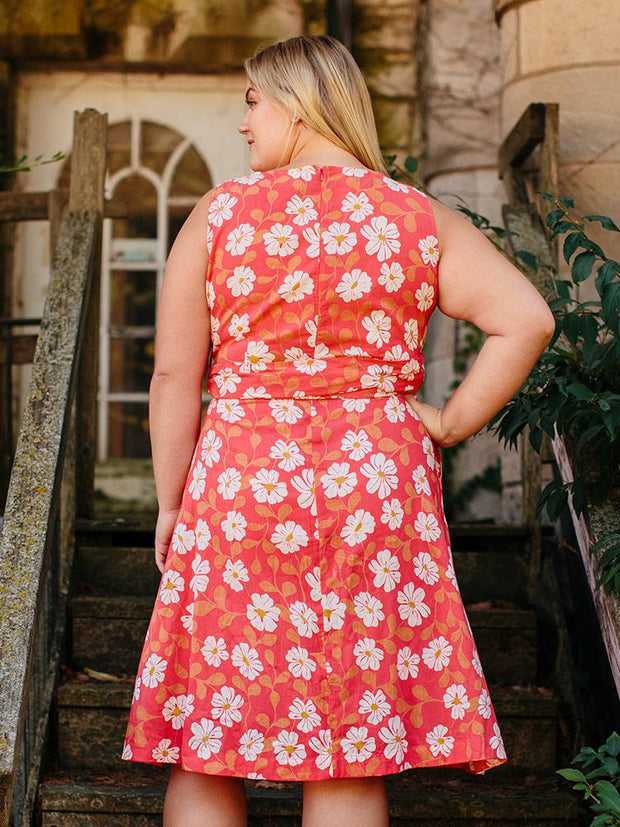 Ana Wrap Plus Size Dress Cherry