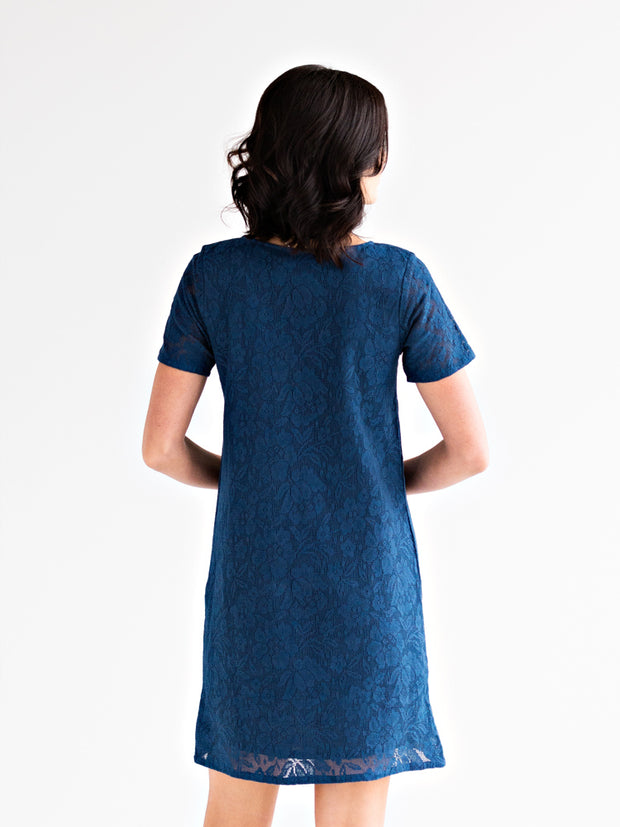 Aria Dress Blue Lace