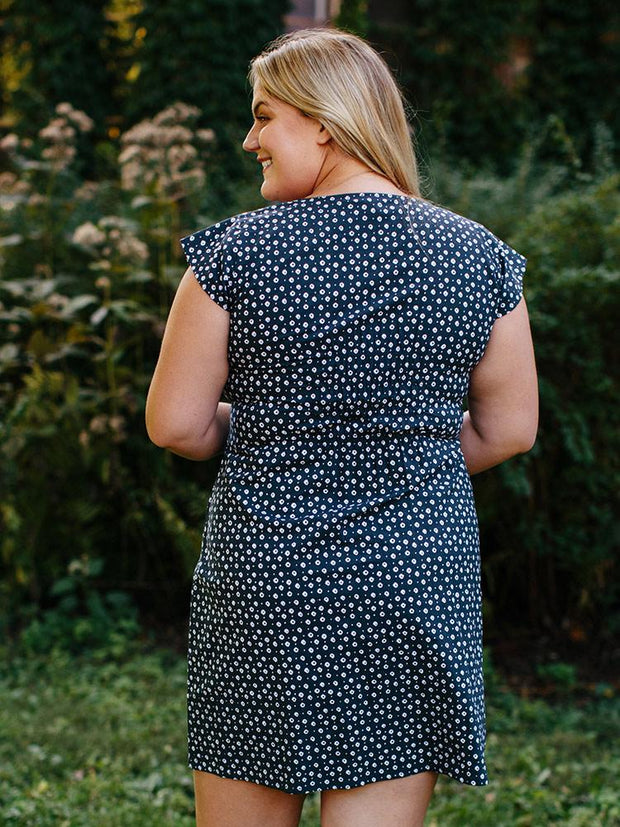 Artsy Traveler Plus Size Dress Black Dots
