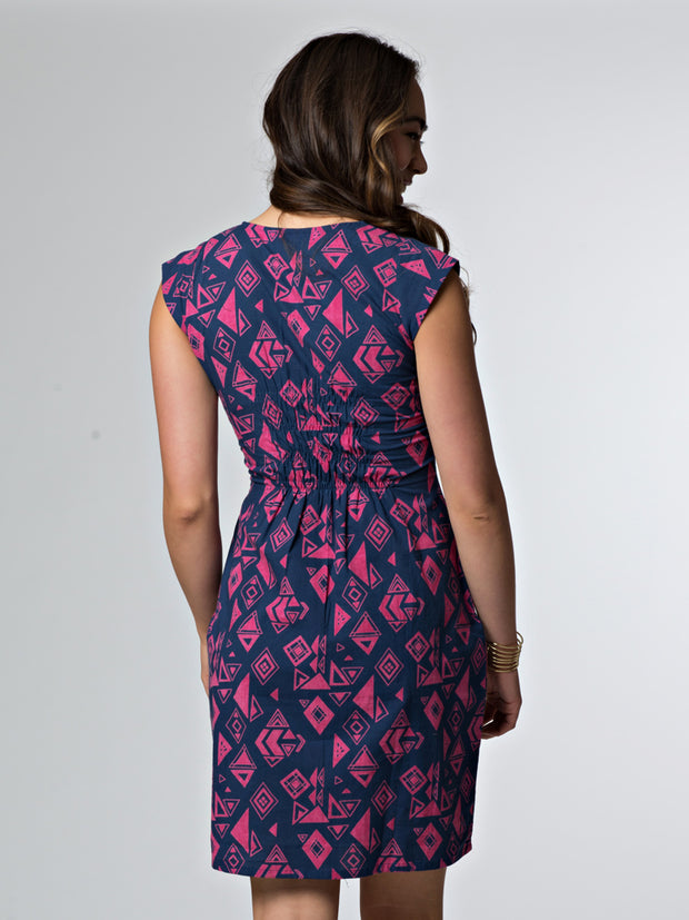 Artsy Traveler Dress Fuchsia