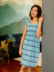 Artsy Traveler Dress Marine
