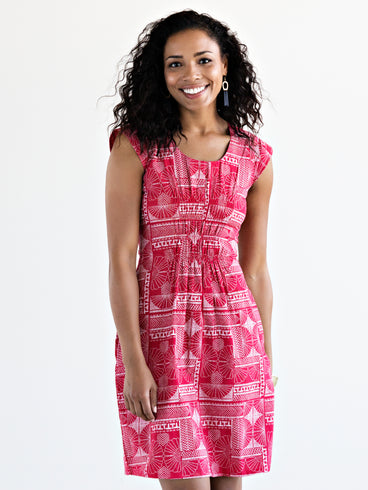 Artsy Traveler Dress Red
