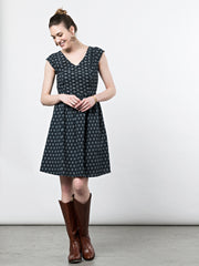 Aurora V-Neck Dress Slate