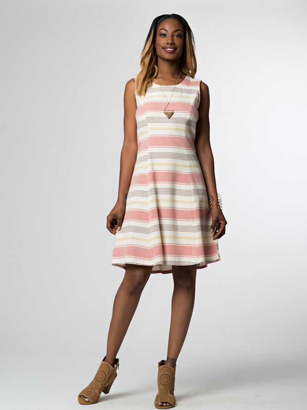Bar Harbor Dress Rose Stripe