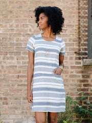 Belmore Dress Dusty Blue