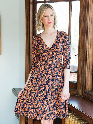 Callie Wrap Dress Auburn